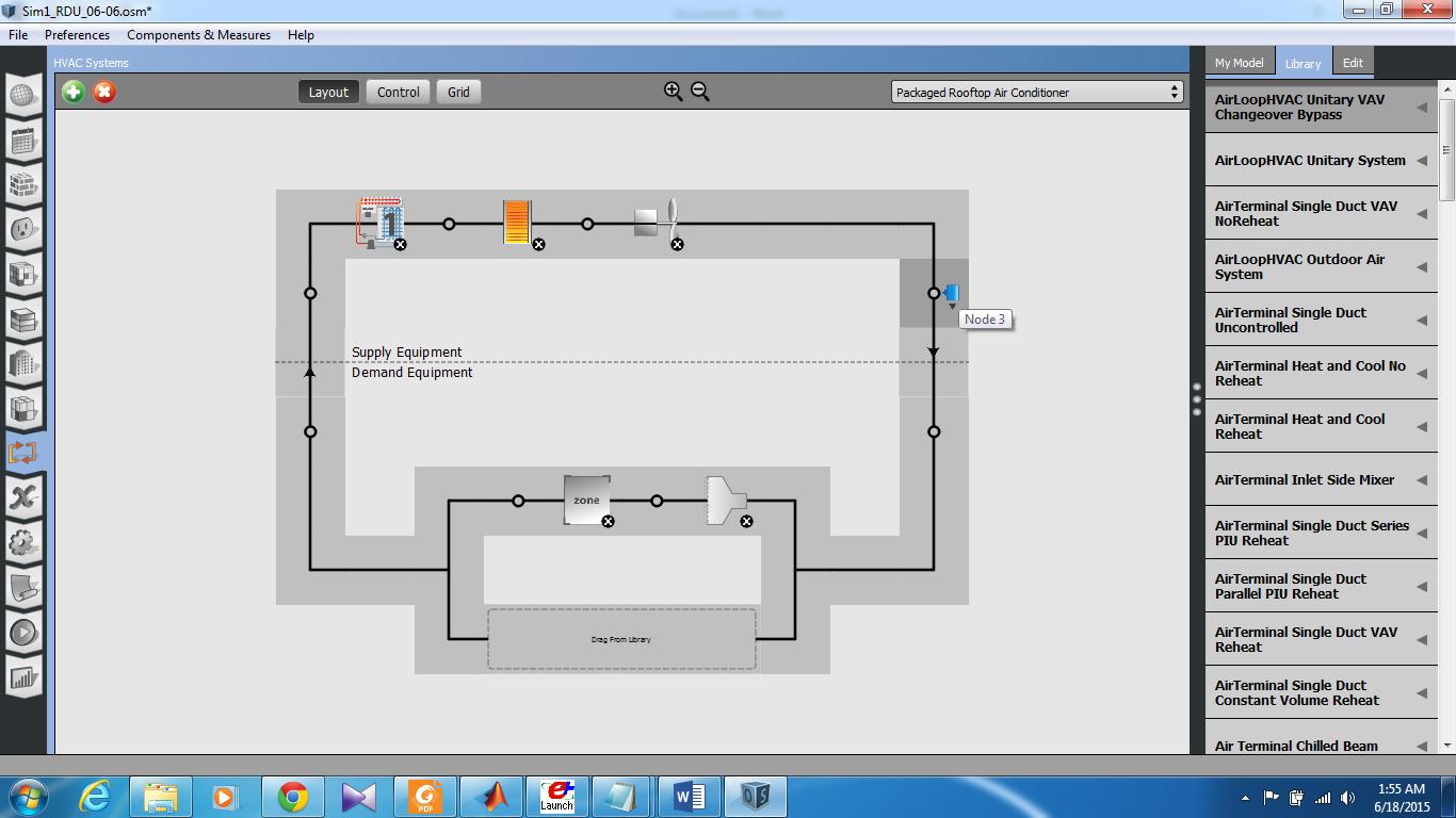 OpenStudio HVAC System Setup for a Small House #B76114