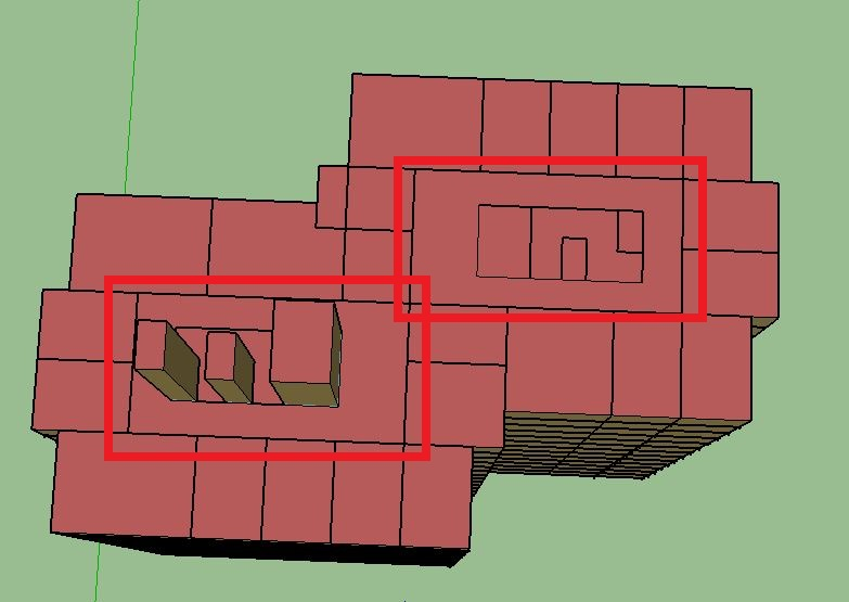 How to model a building with a core (stairway, elevator