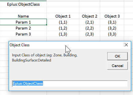 Example Excel to IDF